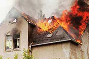 fire and smoke damage to home